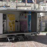 Piaggine, presentato il centro di raccolta mobile di rifiuti (VIDEO)